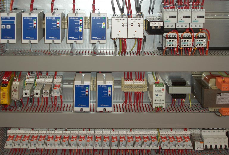 Boiler control panel for a CHP plant.