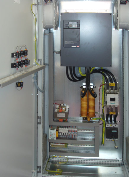 90KW Inverter Drive Panel custom designed for a chemical plant in Southampton.