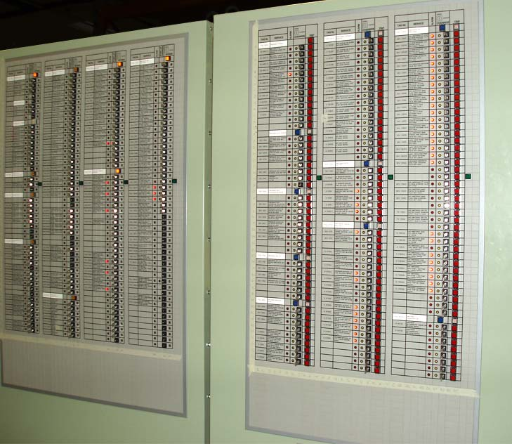 Matrix panel designed for use on an offshore oil rig in the North Sea.
